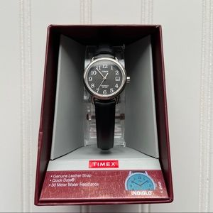 Timex Indiglo Leather Strap Quick Date Watch